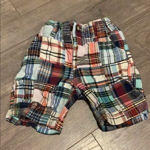 Baby gap 3t madras plaid shorts